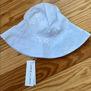 Janie and jack embroidered sun hat